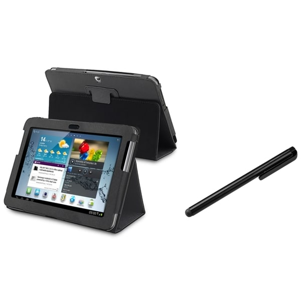 INSTEN Black Tablet Case Cover/ Stylus for Samsung Galaxy Tab 2/ P5100/ P5110/ 10.1