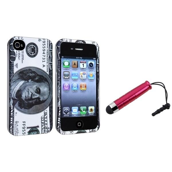 INSTEN Hundred Dollar Snap-on Phone Case Cover/ Stylus for Apple iPhone 4/ 4S