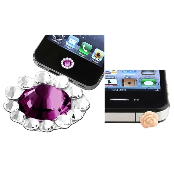 INSTEN Purple HOME Button Sticker/ Dust Cap for Apple iPhone 4/ 4S