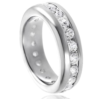 Journee Collection Sterling Silver Channel-set Cubic Zirconia Engagement-style Ring