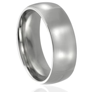Journee Collection Stainless Steel Wedding Band (8 mm)