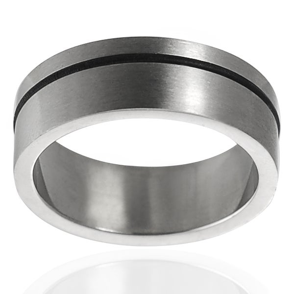 Vance Co. Stainless Steel Wedding Band (8 mm)