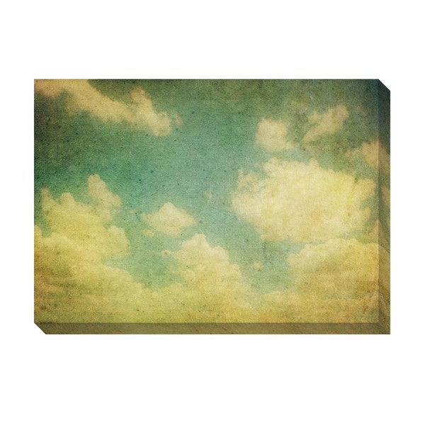 Gallery Direct Vintage Clouds III Oversized Gallery Wrapped Canvas