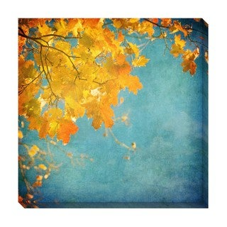 Gallery Direct Autumn Leaves Oversized Gallery Wrapped Canvas