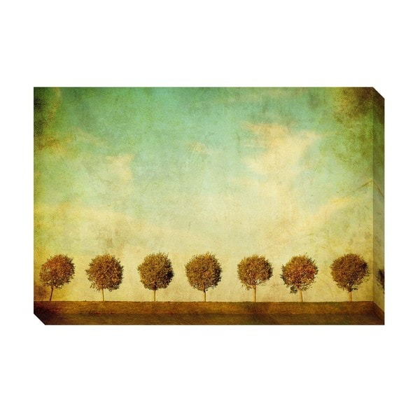 Gallery Direct Row of Trees I Oversized Gallery Wrapped Canvas