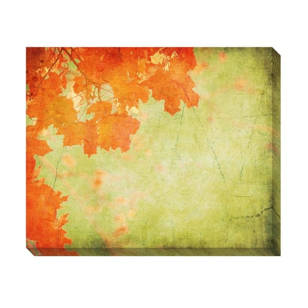 Gallery Direct Vintage Autumn Leaves I Oversized Gallery Wrapped Canvas