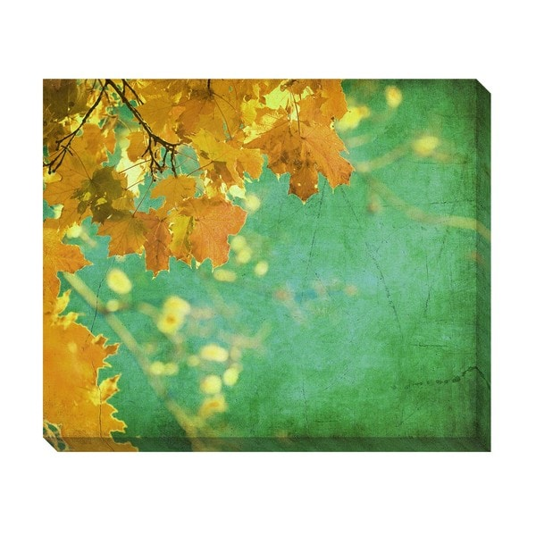 Gallery Direct Vintage Autumn Leaves II Oversized Gallery Wrapped Canvas