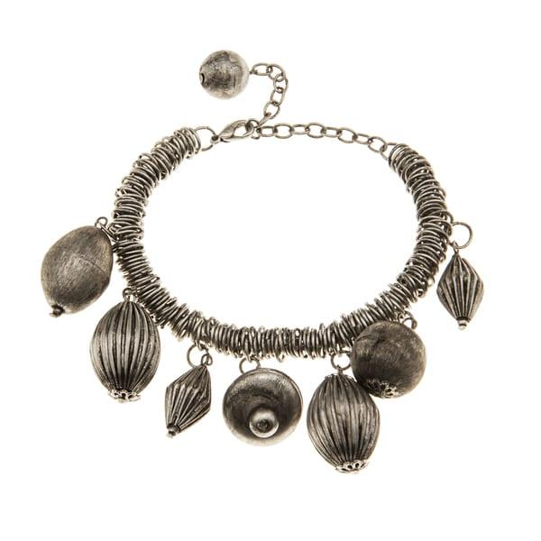 Antique Silvertone Bracelet (India)