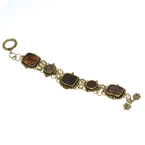 Antique Goldtone Multi Stone Bracelet (India)