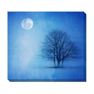 Gallery Direct Lone Winter Tree Oversized Gallery Wrapped Canvas