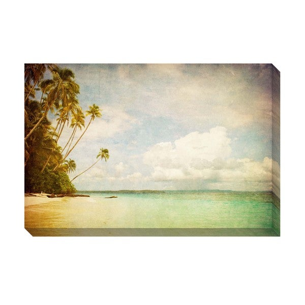 Gallery Direct Tropical Vintage II Oversize Gallery-Wrapped Canvas Art