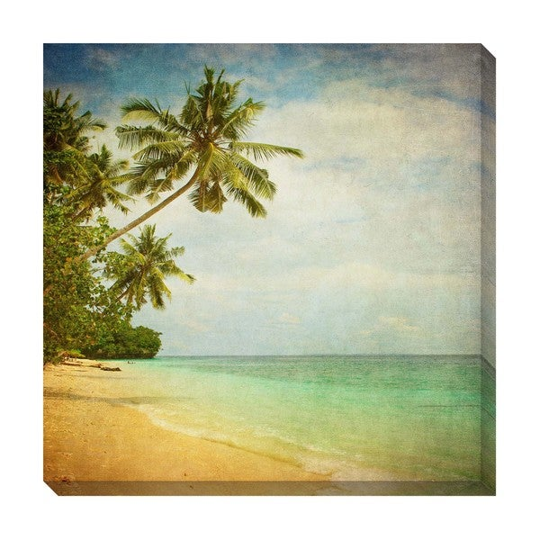 Gallery Direct Tropical Vintage II Oversized Gallery Wrapped Canvas