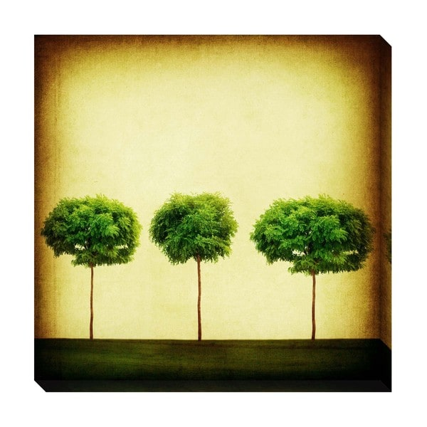 Gallery Direct Triple Tree Oversized Gallery Wrapped Canvas