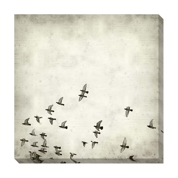 Gallery Direct Fly Sepia Oversized Gallery-wrapped Canvas
