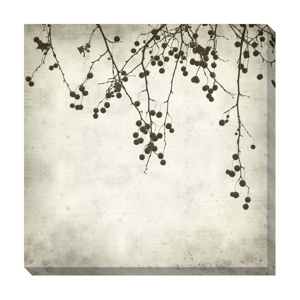 Gallery Direct Berries I Black and White Oversized Gallery Wrapped Canvas