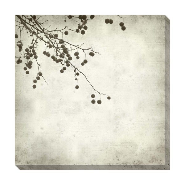 Gallery Direct Berries III Black and White Oversized Gallery Wrapped Canvas