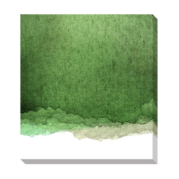 Gallery Direct Green Watercolor Gradient Oversized Gallery
