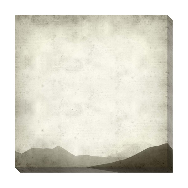 Gallery Direct Mountain Range Black and White Oversized Gallery Wrapped Canvas