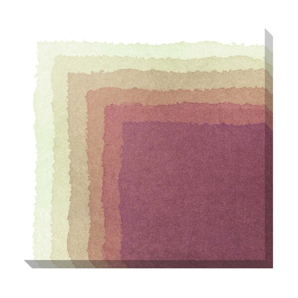 Gallery Direct Chevron Watercolor Mauve Oversized Gallery Wrapped Canvas