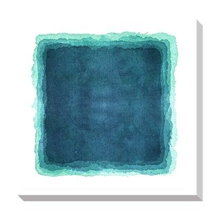 Shop Gallery Direct Abstract Teal Watercolor Oversized