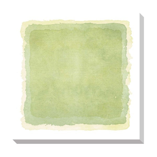 Gallery Direct Abstact Light Green Watercolor Oversized Gallery Wrapped Canvas