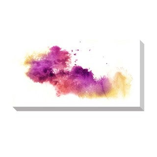 Gallery Direct Abstract Purple Watercolor Oversized Gallery Wrapped Canvas