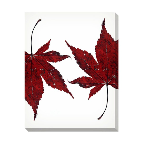Gallery Direct Maple Leaves Oversized Gallery Wrapped Canvas