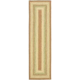 Safavieh Hand-woven Country Living Reversible Rust Braided Rug (2'3 x 6') - 2'3 x 6'
