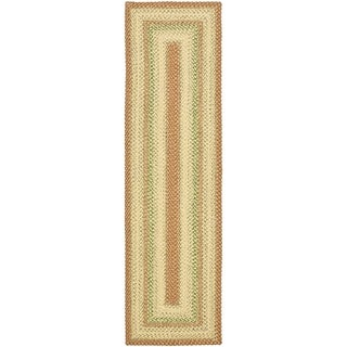 Safavieh Hand-woven Country Living Reversible Rust Braided Rug (2'3 x 6')