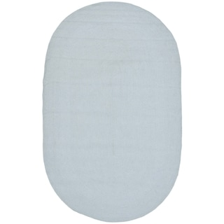 Safavieh Hand-woven Country Living Reversible Light Blue Cotton Braided Rug (3' x 5' Oval)
