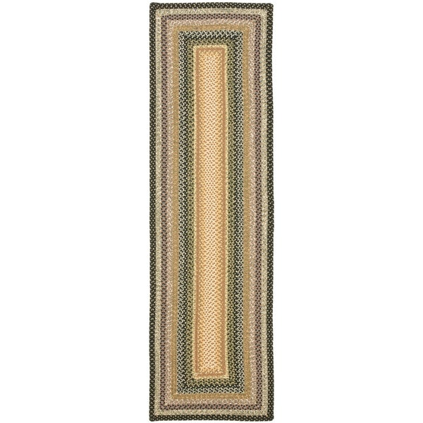 Safavieh Hand-woven Country Living Reversible Blue Braided Rug (2'3 x 6')