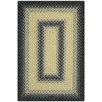 Safavieh Hand-woven Country Living Reversible Black/ Grey Braided Rug - 2'6 x 5'