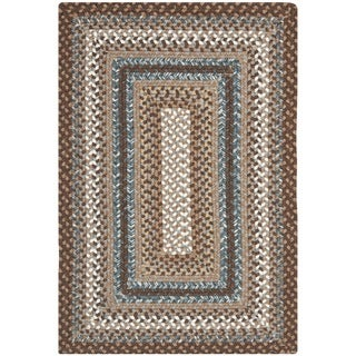 Safavieh Hand Woven Country Living Reversible Brown Braided Rug (2u0027 ...