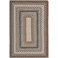 Safavieh Hand-woven Country Living Reversible Brown Braided Rug (2' x 3') - 2' x 3'