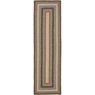 Safavieh Hand-woven Country Living Reversible Brown Braided Rug (2'3 x 10')