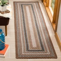 Safavieh Hand-woven Country Living Reversible Brown Braided Rug - 2'3 x 10'