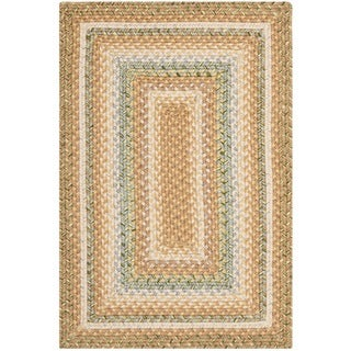 Safavieh Hand-woven Country Living Reversible Tan Braided Rug (2' x 3')