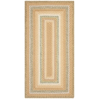 Safavieh Hand-woven Country Living Reversible Tan Braided Rug (2'3 x 6')