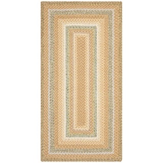 Safavieh Hand-woven Country Living Reversible Tan Braided Rug (2'6 x 5')