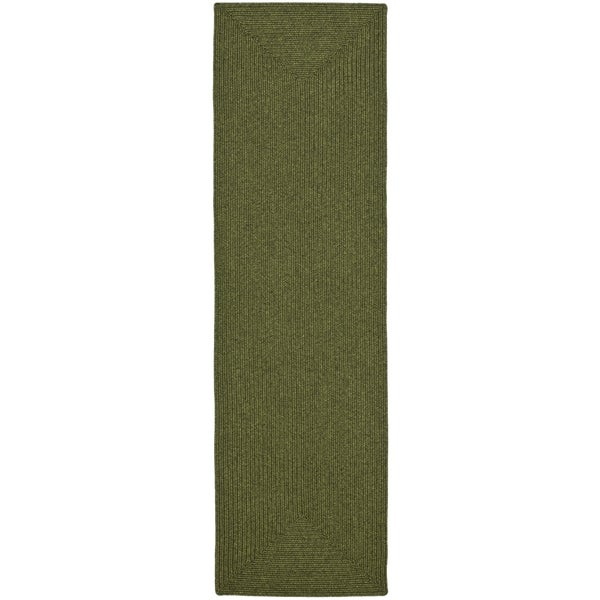 Safavieh Hand-woven Country Living Reversible Green Braided Rug - 2'3 x 10'