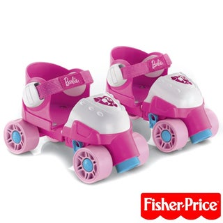 Fisher-Price Barbie Grow With Me Pink 1 2 3 Roller Skates