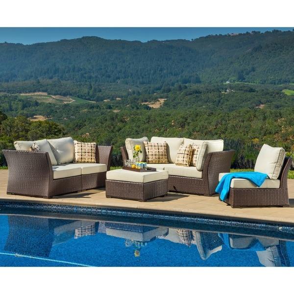 Corvus Oreanne 6-piece Brown Wicker Patio Furniture Set