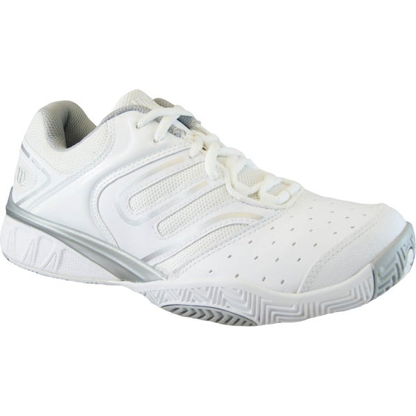 Wilson Women's 'Tour Construkt' White and Silver Tennis Shoes