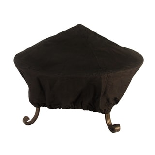 Black Fabric 35-inch Fire Pit Cover