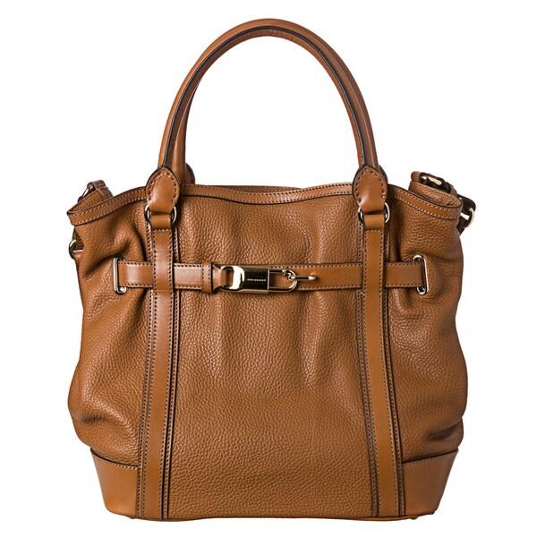 Burberry 'Golderton' Medium Leather Tan Bridle Tote Bag