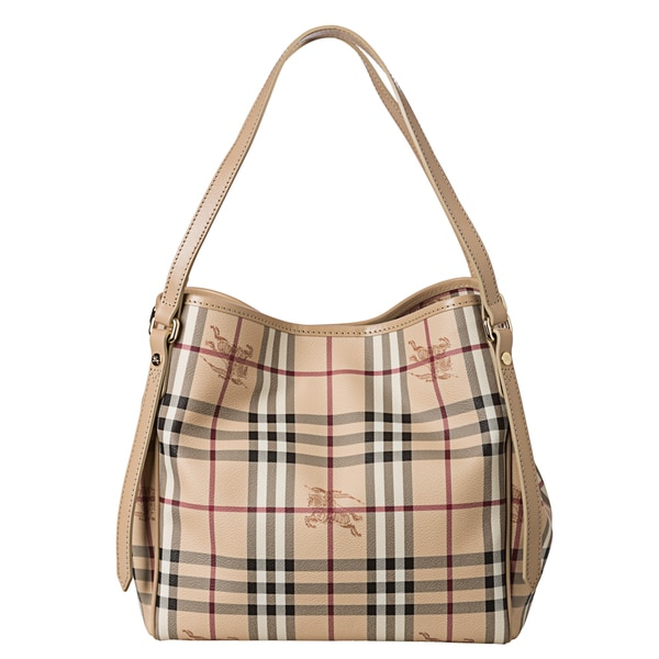 Burberry 'Canterbury' Small Beige Haymarket Check Tote Bag