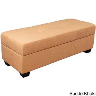 "Vanderbilt Upholstered Tufted Padded Hinged 48"" x 19"" Storage Ottoman Bench"