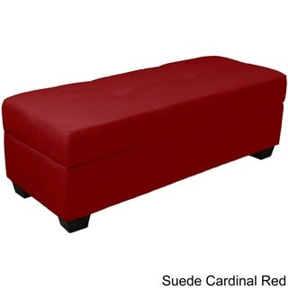 "Vanderbilt Upholstered Tufted Padded Hinged 48"" x 19"" Storage Ottoman Bench"