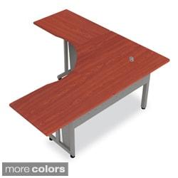 Marvel 72 Inch Single Pedestal Steel L Shaped Desk With