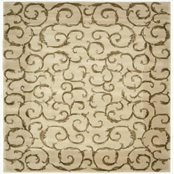 Nourison Hand-tufted Versailles Palace Ivory Rug (8' x 8') Square